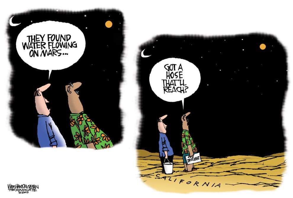 Walt Handelsman: Water on Mars _lowres
