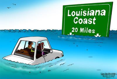 Walt Handelsman: Louisiana's Shrinking Coastline