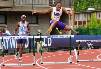 LSU's Downing runs personal best to finish third in 400 hurdles _lowres
