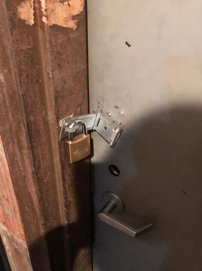 Evidence room lock