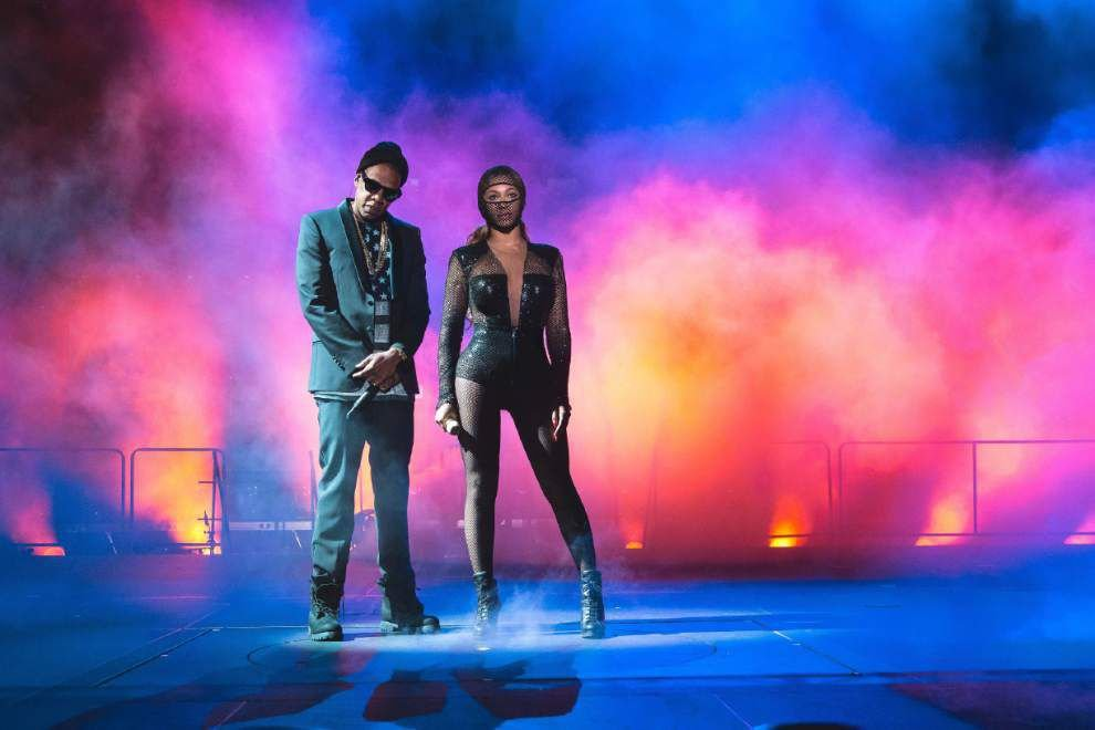 Beyonce and Jay-Z together Sunday in the Superdome _lowres
