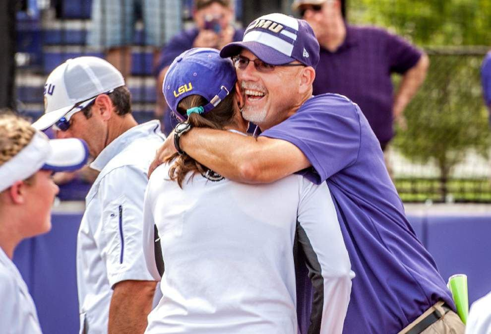 LSU softball falls 3-2 to James Madison in super regional opener, will need two wins Saturday to reach Women's College World Series _lowres