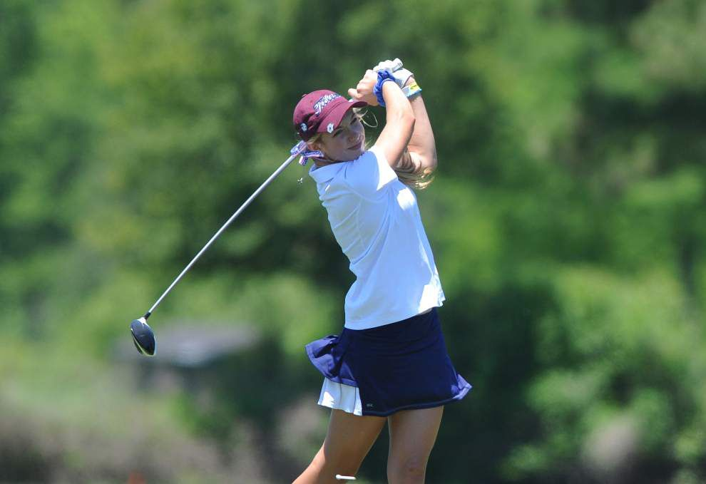 Hannan's Abbey Daniel takes lead with 67 at Division II girls state golf tournament _lowres
