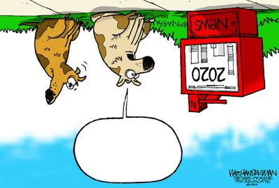 See if YOU can make heads or tails out of what's going on in Walt Handelsman's new Cartoon Caption Contest!