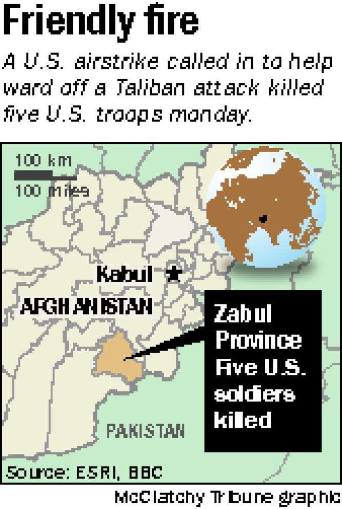 Five U.S. troops killed by friendly fire in Afghanistan _lowres