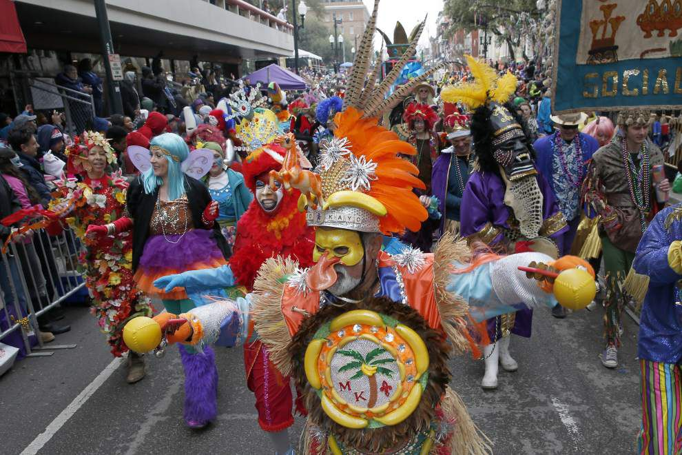 Photos: Krewe of Zulu features quirky floats and highly sought after throws _lowres