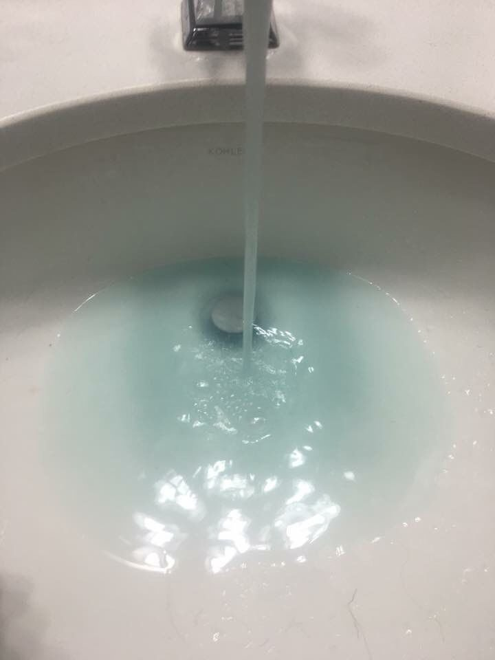 Blue-ish water coming out your faucet? Sewerage and Water Board says ...