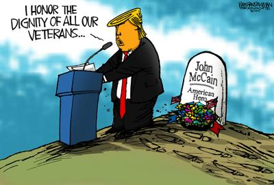 Walt Handelsman: Trump Honoring Veterans?