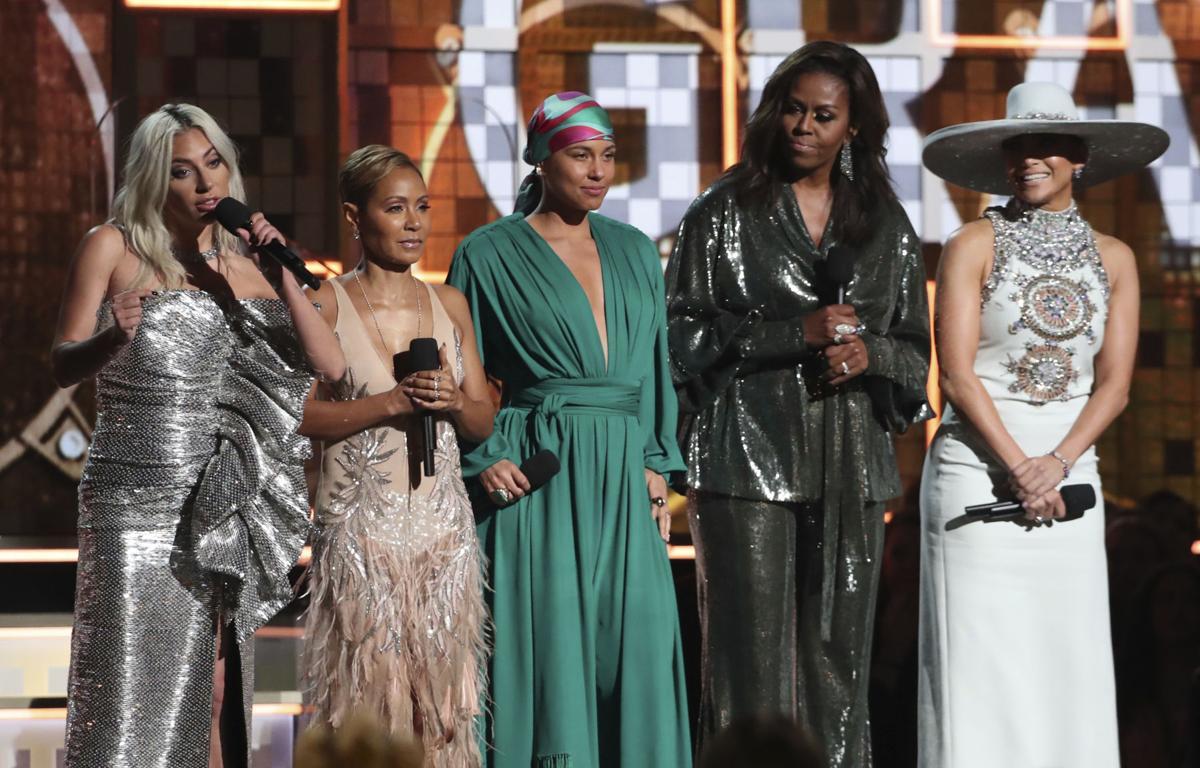Lady Gaga, Jada Pinkett Smith, Alicia Keys, Michelle Obama, Jennifer Lopez