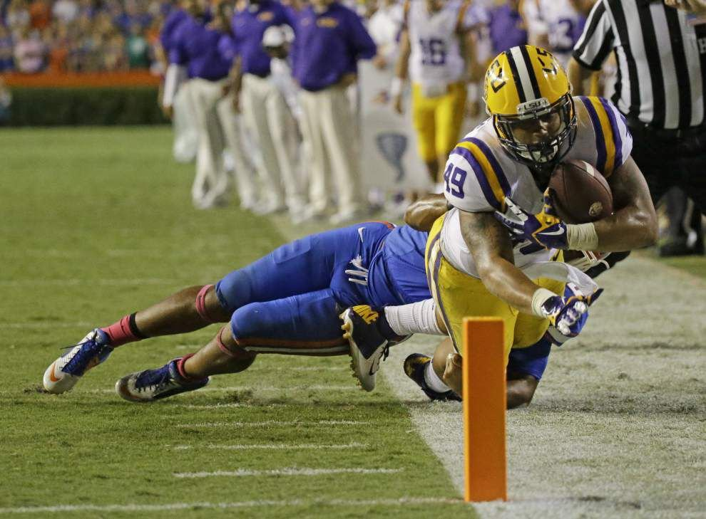 LSU's backfield is catching on recently as the team's most-used receivers _lowres