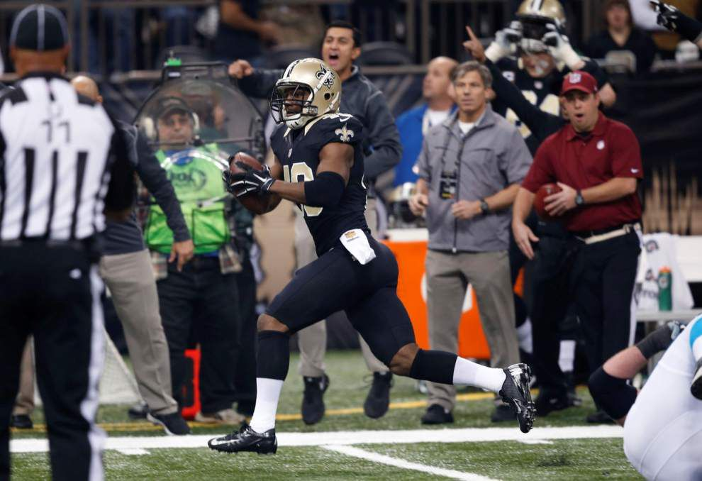 Saints cornerback Delvin Breaux optimistic about return from hamstring injury that kept him out against Carolina _lowres