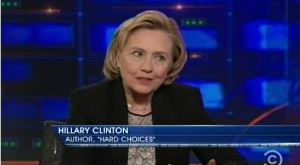 No hint from Clinton on 'The Daily Show' _lowres