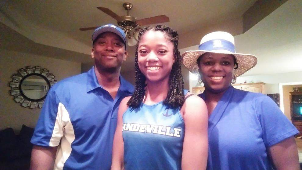 Leading the pack: Mandeville's Jones displayed her middle distance running talent early _lowres
