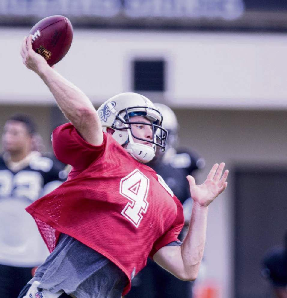 Saints backup quarterback Ryan Griffin suffered multiple stitches in bottle attack on June 7 _lowres