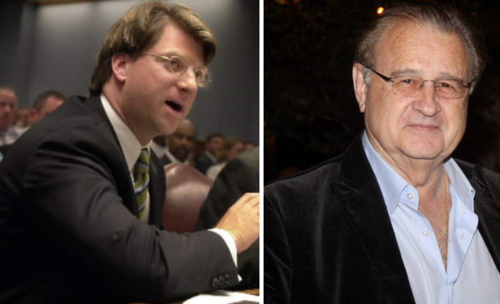 Federal judge tosses some fraud counts against New Orleans lawyer Michael Arata, Hollywood producer Peter Hoffman; they remain convicted on other counts _lowres