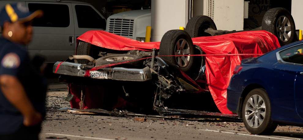 Man dies when truck crashes through Poydras parking garage, plunges at least five floors to ground _lowres