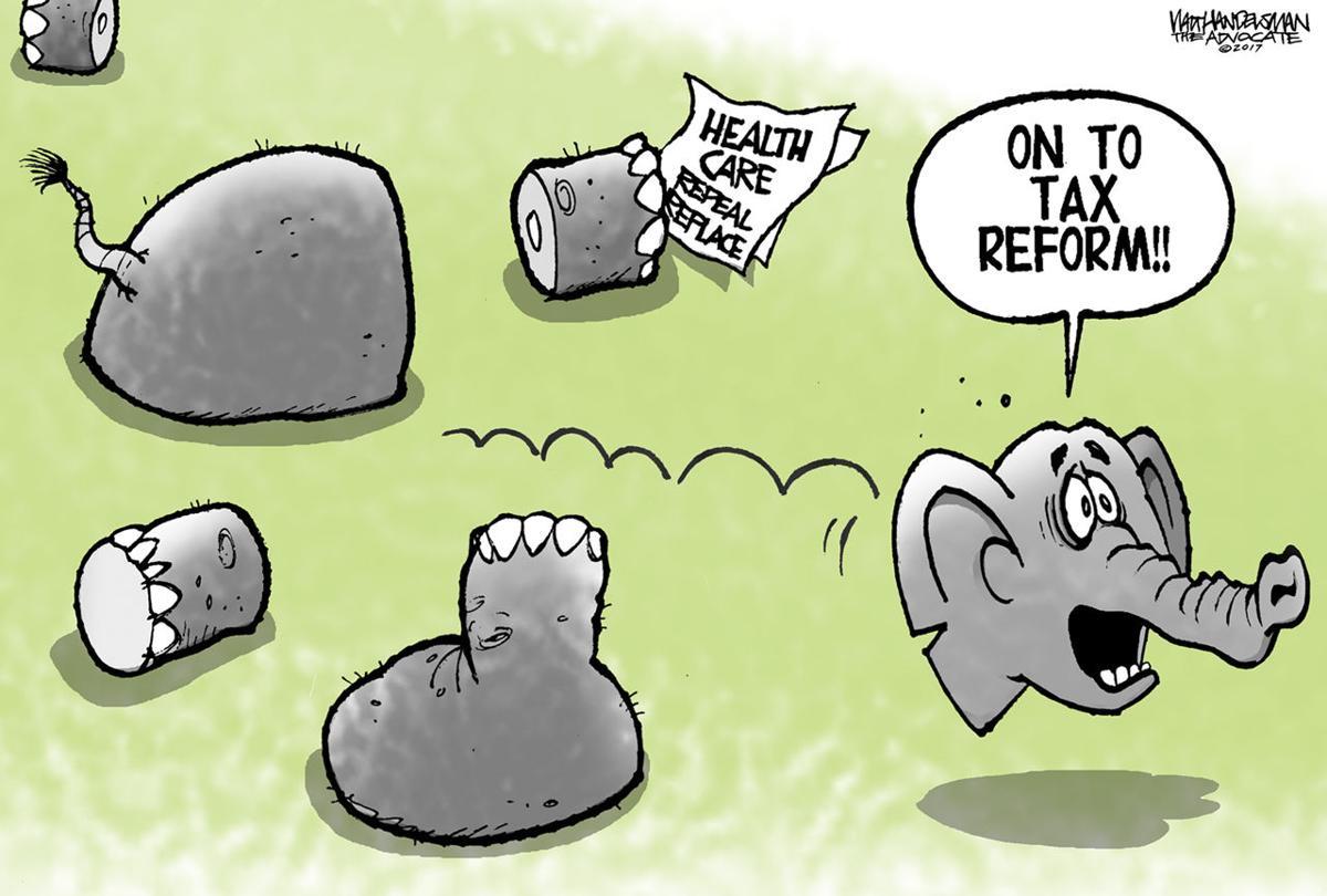 Walt Handelsman: On to Tax Reform!