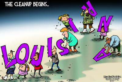 Walt Handelsman: Picking Up the Pieces...