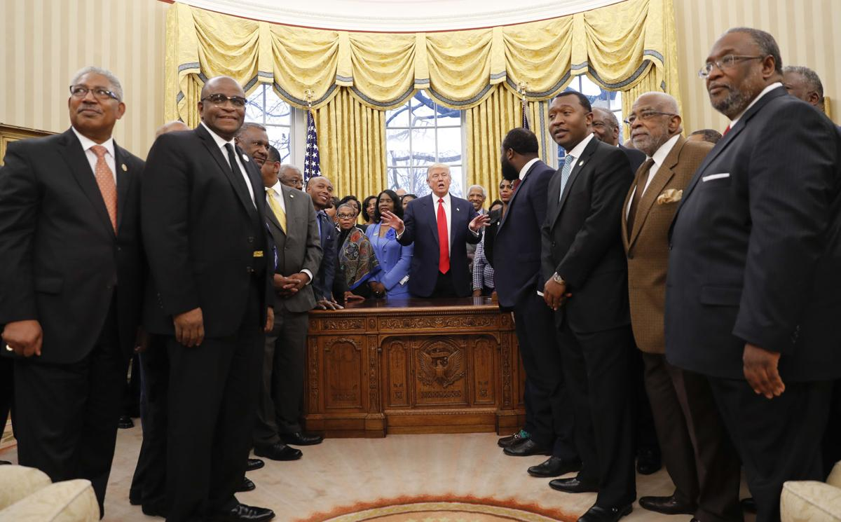 President Donald Trump meets with HBCU leaders