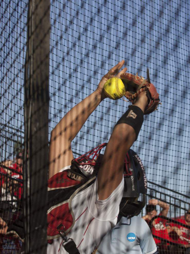 After last year's power surge, the Cajuns softball team would love an encore from catcher Lexie Elkins _lowres