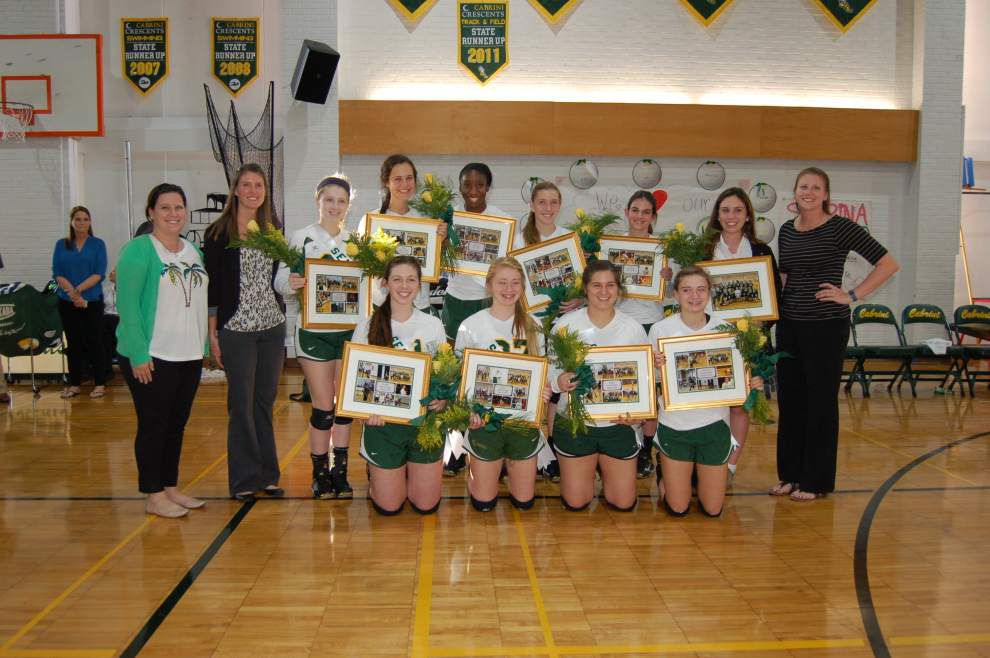 Cabrini honors volleyball seniors _lowres