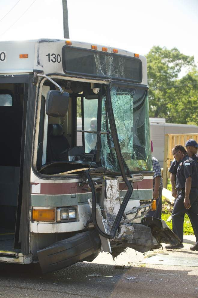 Mechanical malfunction believed likely responsible for CATS bus crashing into house _lowres