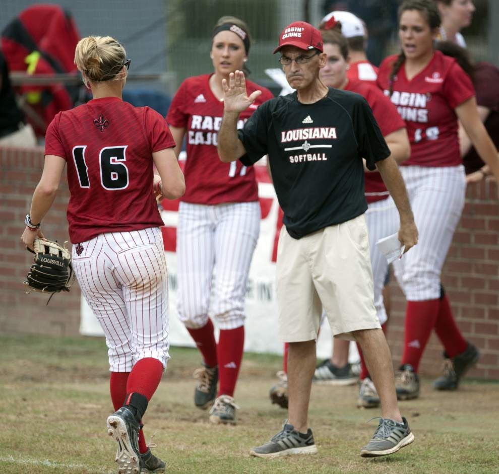 Cajuns softball notes: Mike Lotief is aching to be with his team in the super regional, if his health allows _lowres
