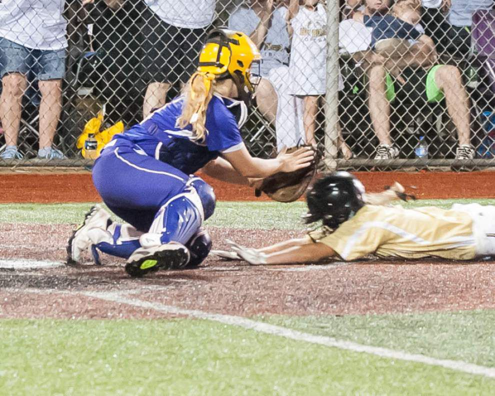 Lutcher falls 4-0 to Kaplan in Class 3A softball state title game _lowres