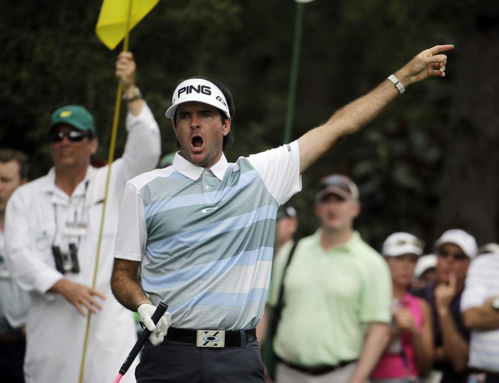 Defending Masters champion Bubba Watson: 'You can say it. I'm out of it.' _lowres