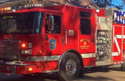 fire department fire truck stock