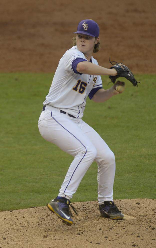 LSU baseball notebook: 'Politicking' pitcher Alex Lange moves to Thursday against Florida _lowres