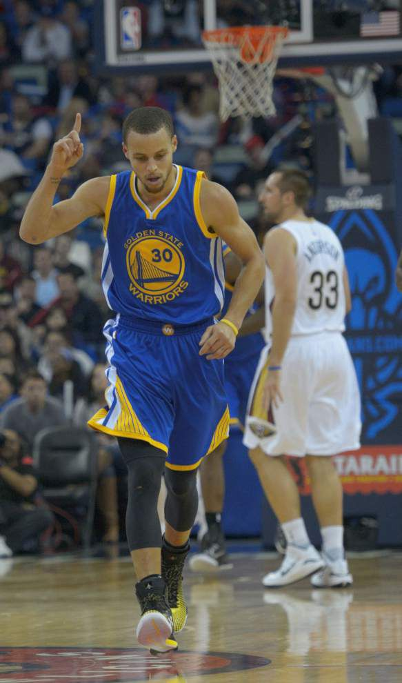 Warriors drop Anthony Davis-less Pelicans 128-122 in overtime for their 16th straight win _lowres