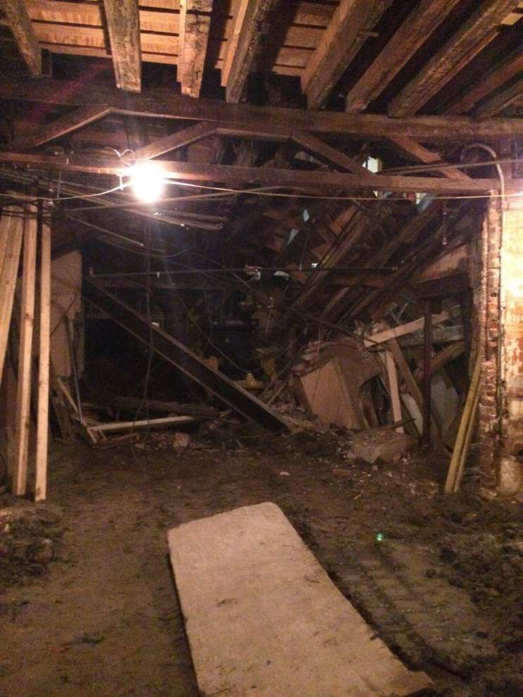 Former Brennan's building damaged during renovations _lowres