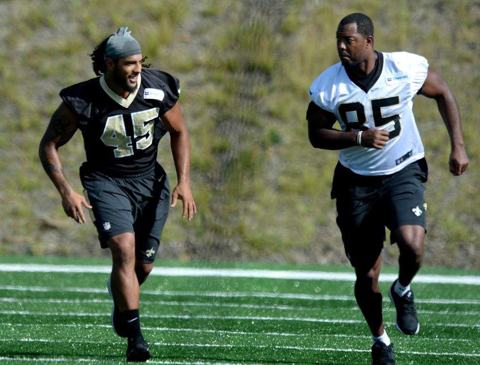 Rookie linebackers Stephone Anthony, Hau'oli Kikaha get their chance with Saints' starters _lowres