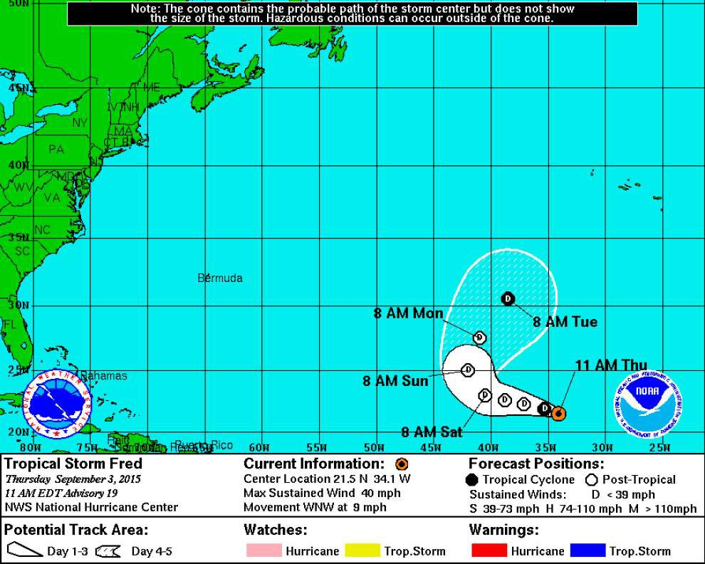 Update: Tropical Storm Fred hangs on for now, but expected to weaken soon _lowres