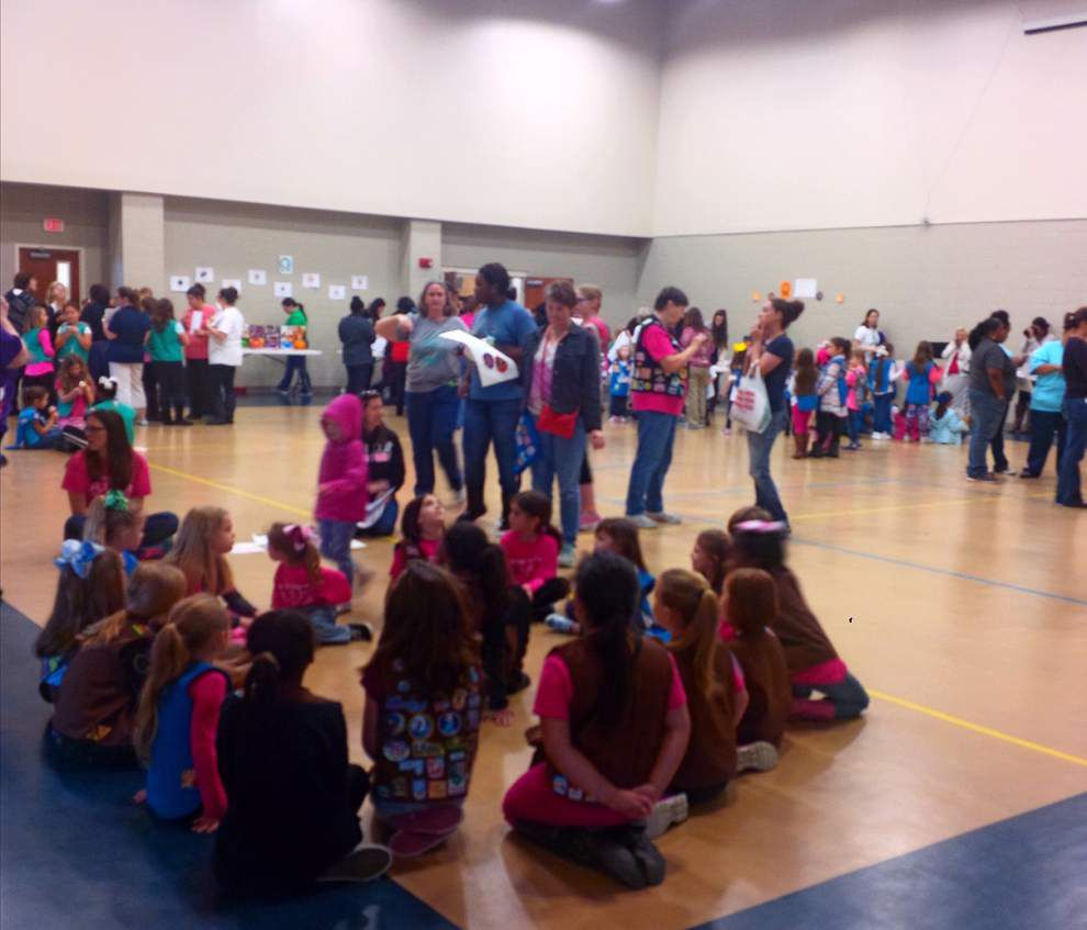 Scouts kick off selling season with cookie boot camp _lowres