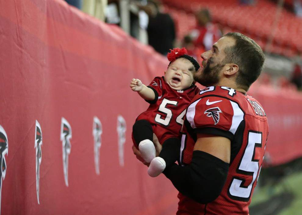 Former Falcon Nate Stupar excited to play in front of Saints fan base that is 'a lot more passionate' than Atlanta's _lowres