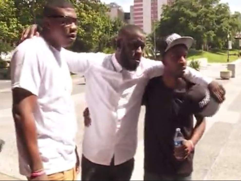 WWL-TV: Men in violent outbreak aired on TV settle dispute, discuss ways to curb New Orleans violence _lowres