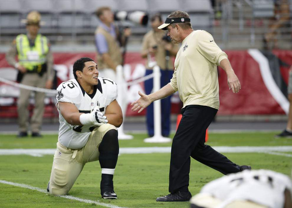 The time has come for Andrus Peat, the Saints' top draft pick makes his first NFL start at Philadelphia on Sunday _lowres