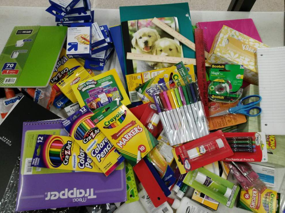 St. Michael High holds school supply drive _lowres