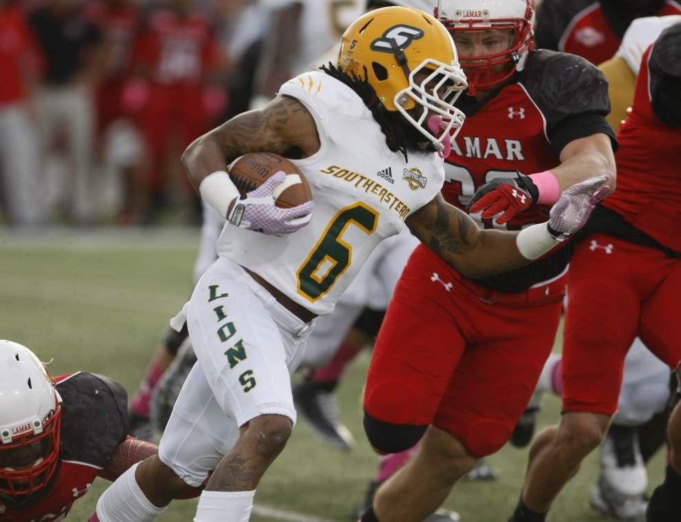 Southeastern Louisiana rides strong run attack into Central Arkansas game _lowres