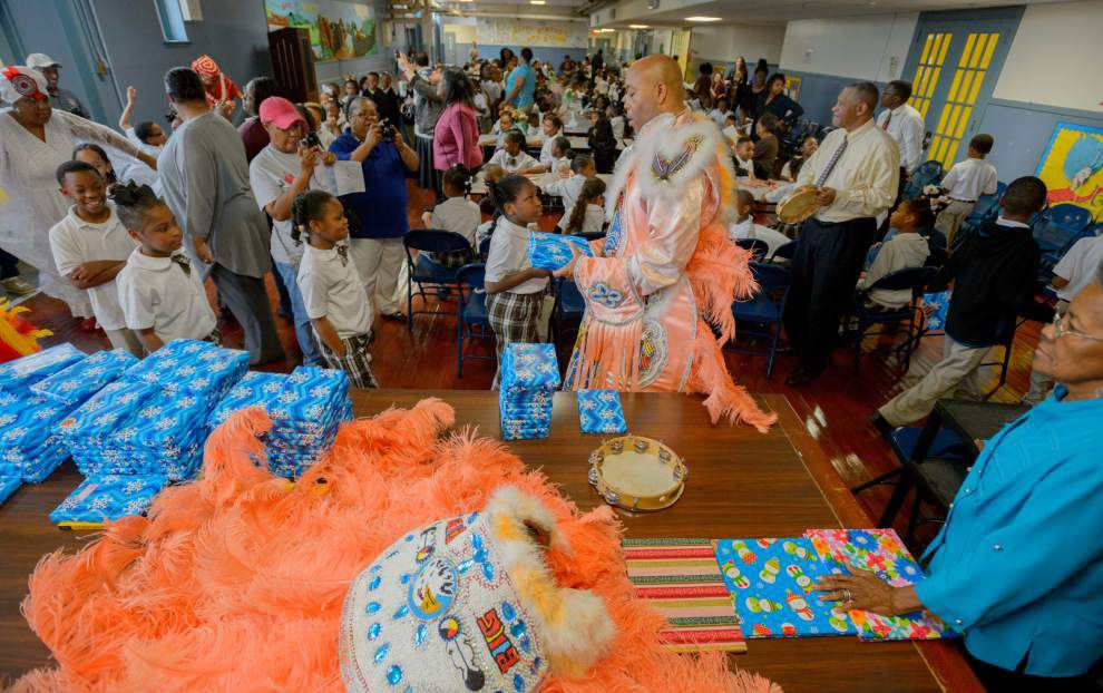 Mardi Gras Indians offer a day of reading, rhythm _lowres