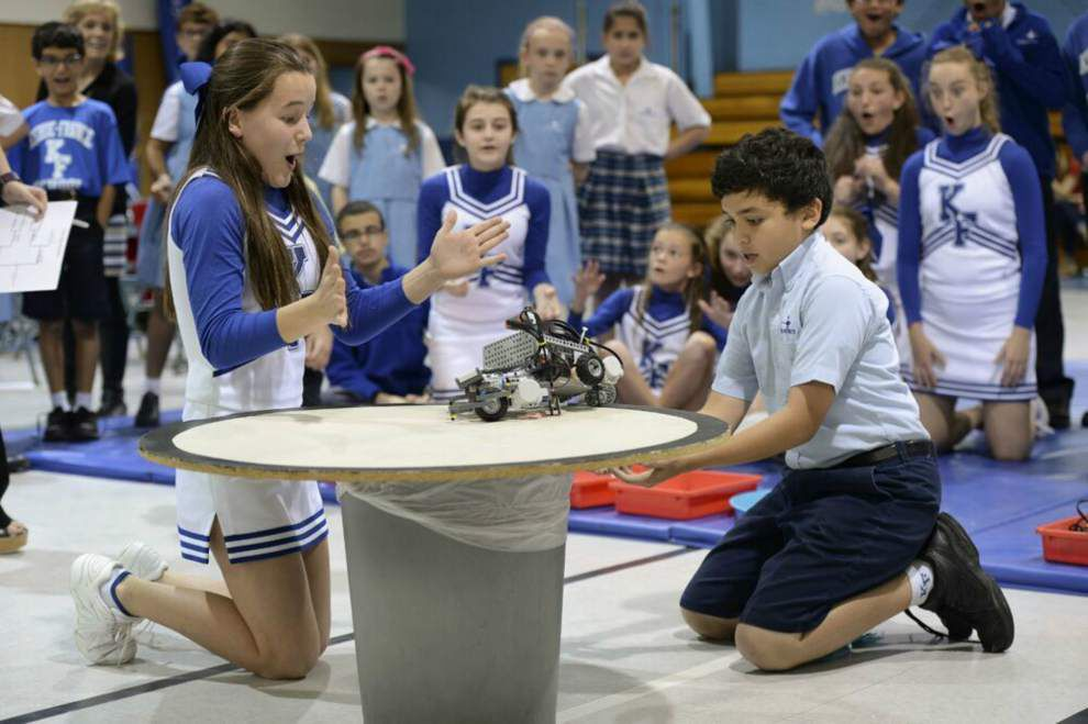Kehoe-France students duke it out in robotics competition _lowres