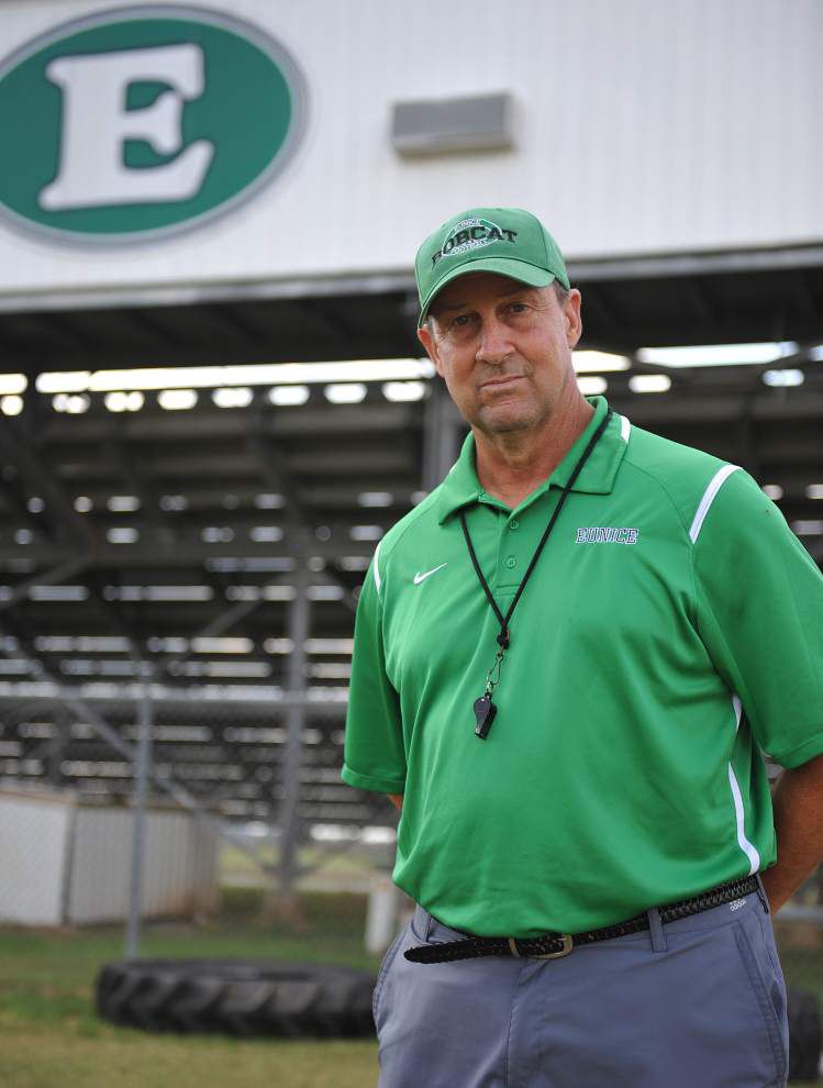 The prognosis wasn't good for Eunice football coach Paul Trosclair when he was diagnosed in the summer of 2014 with multiple myeloma cancer. But he coached last season and appears to be in remission now. _lowres