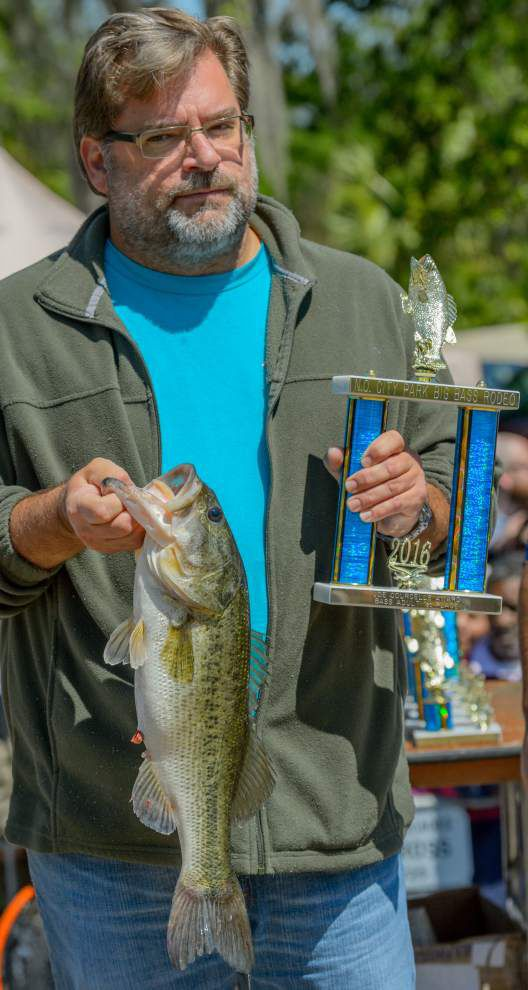 Darryl Delerno Jr. lands biggest bass in New Orleans City Park Big Bass Rodeo _lowres