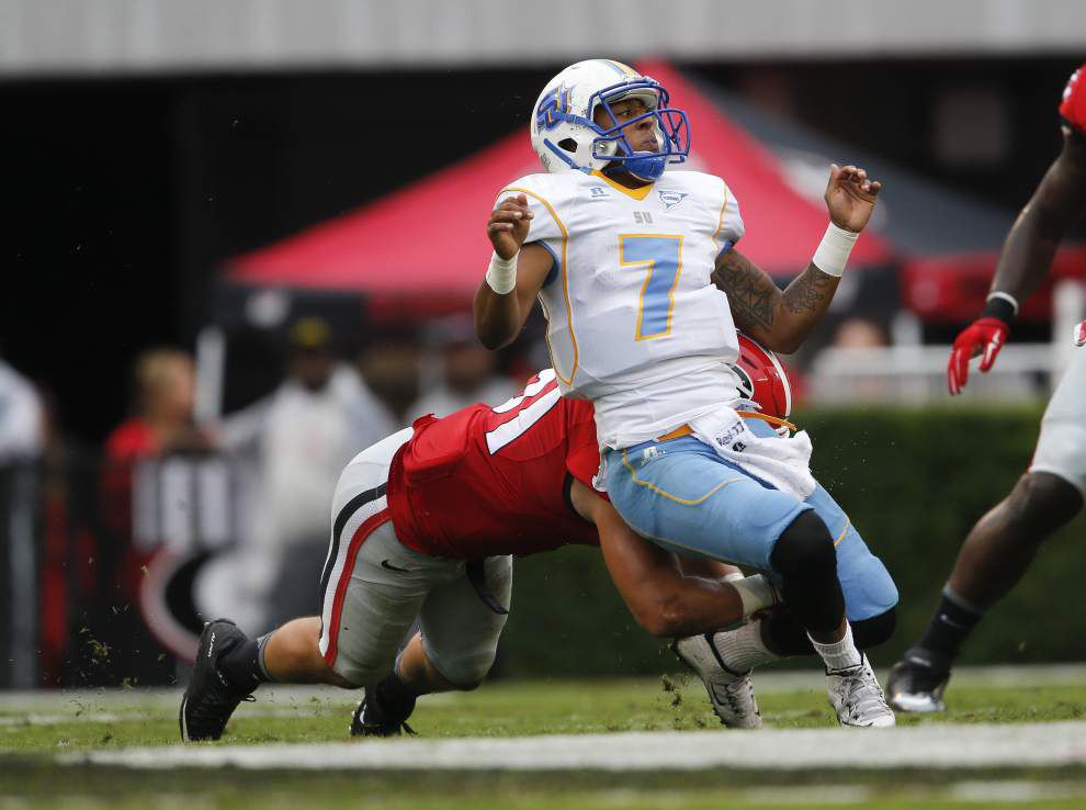 Photos: Southern Jags give it their all against Georgia Saturday _lowres