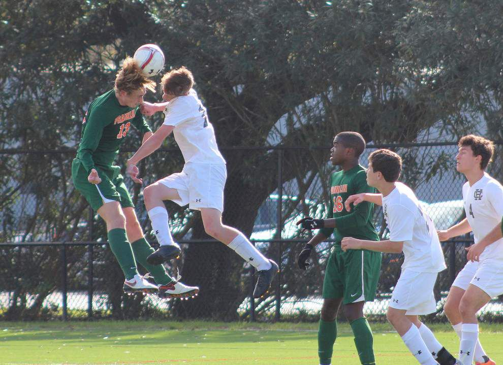 Holy Cross, Ben Franklin boys soccer match finishes in 1-1 draw _lowres