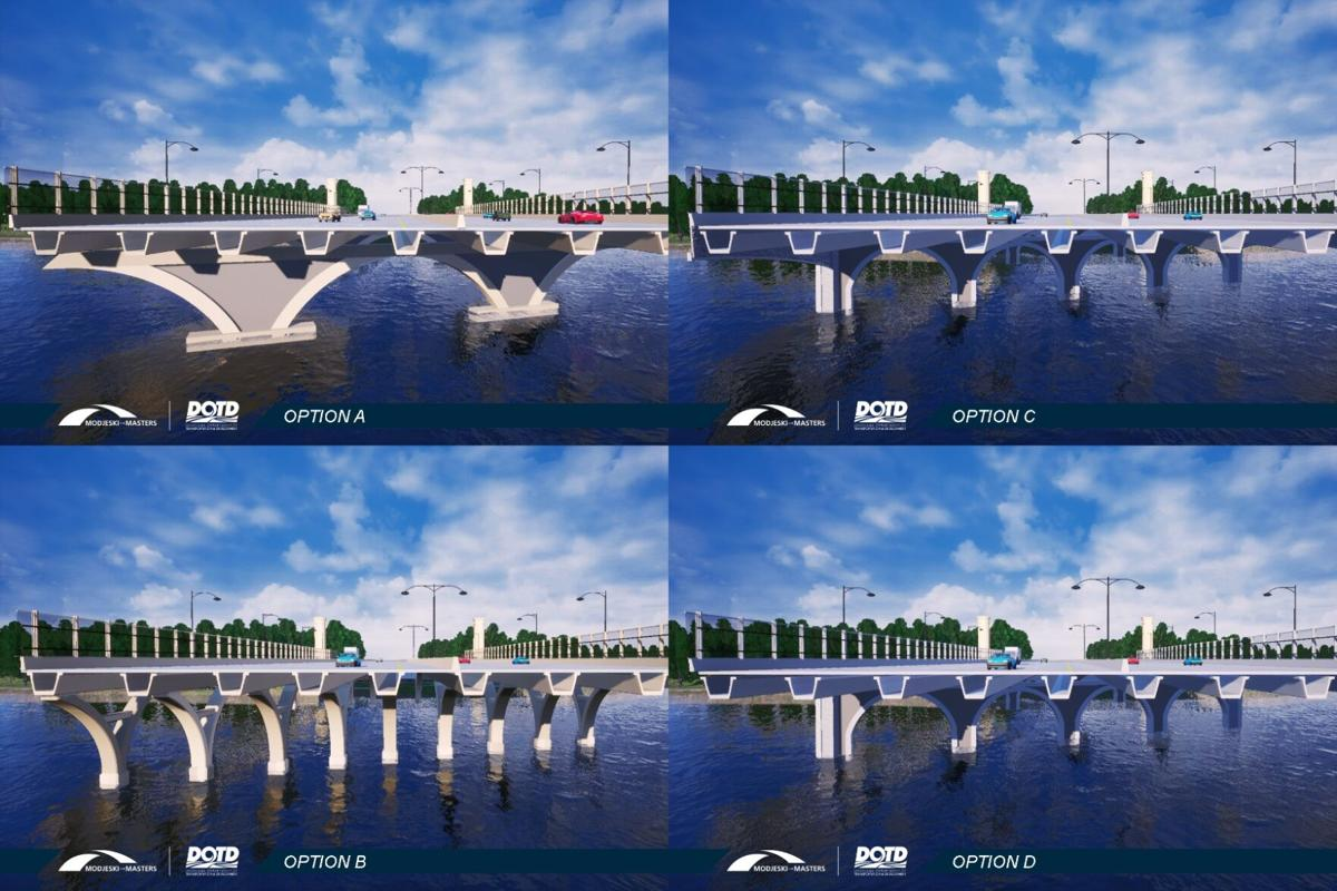 City Park Bridge collage
