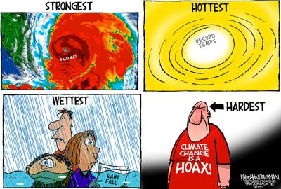 Walt Handelsman: Ignoring the Evidence