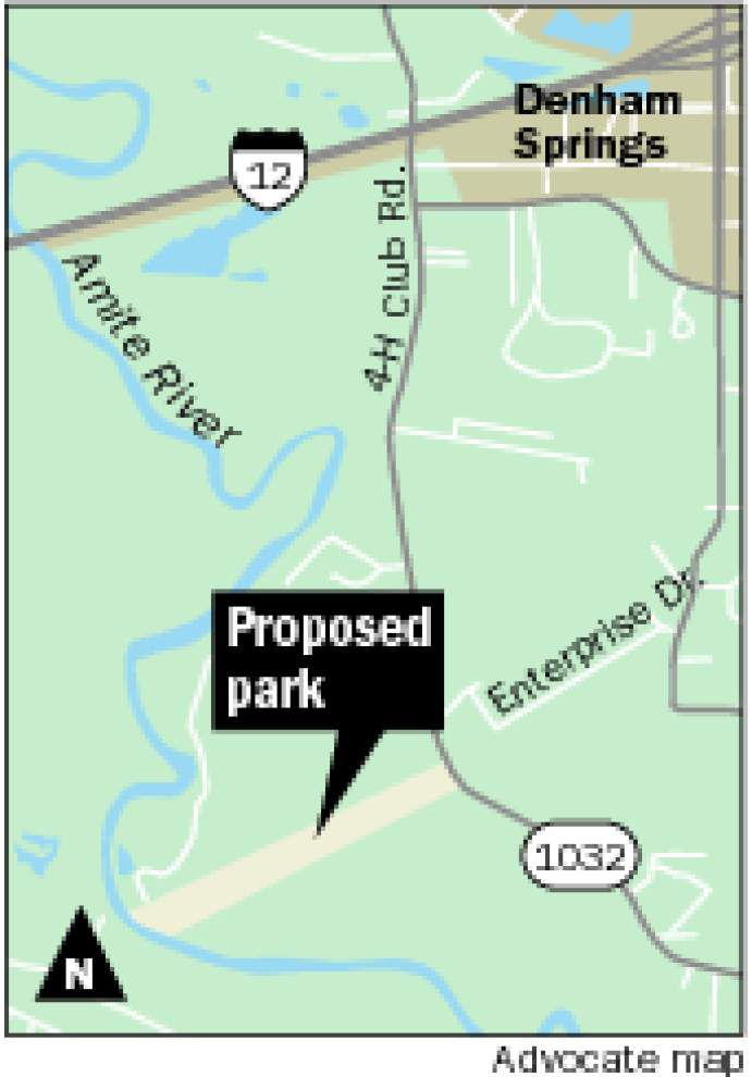 Wildlife park along the Amite River to provide boat launch, camping sites and walking trails near Denham Springs _lowres